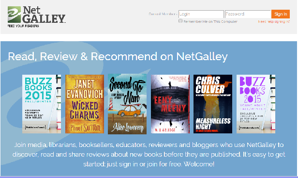 netgalley homepage 20150610